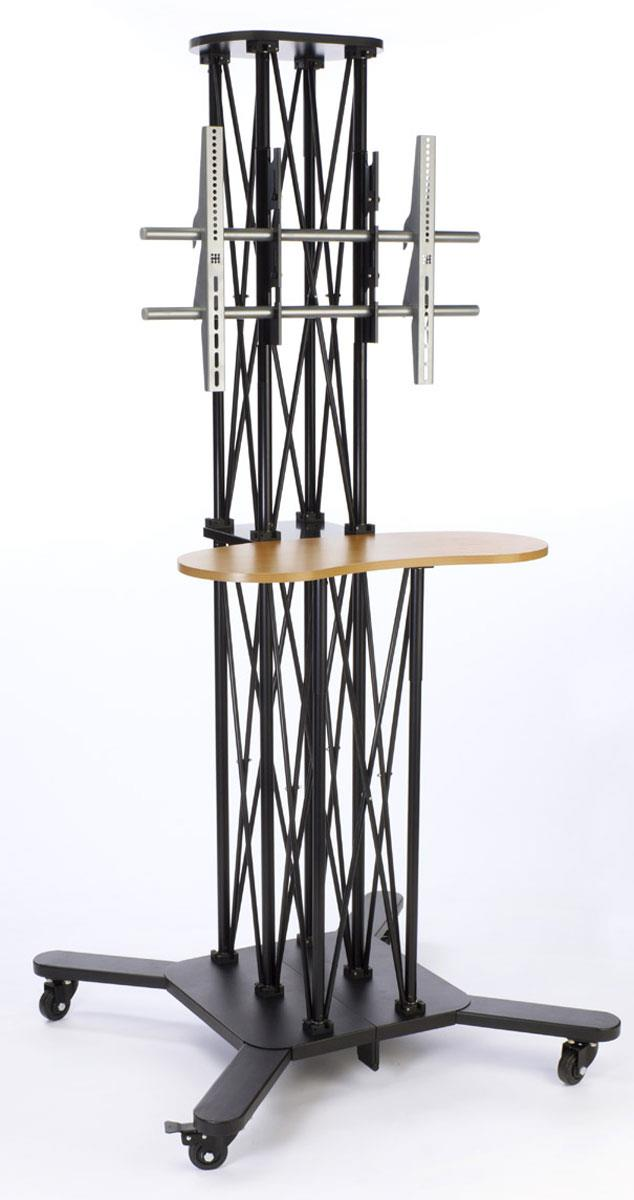 Trade Stands For Sale : The monitor stand that features a kidney bean shaped shelf
