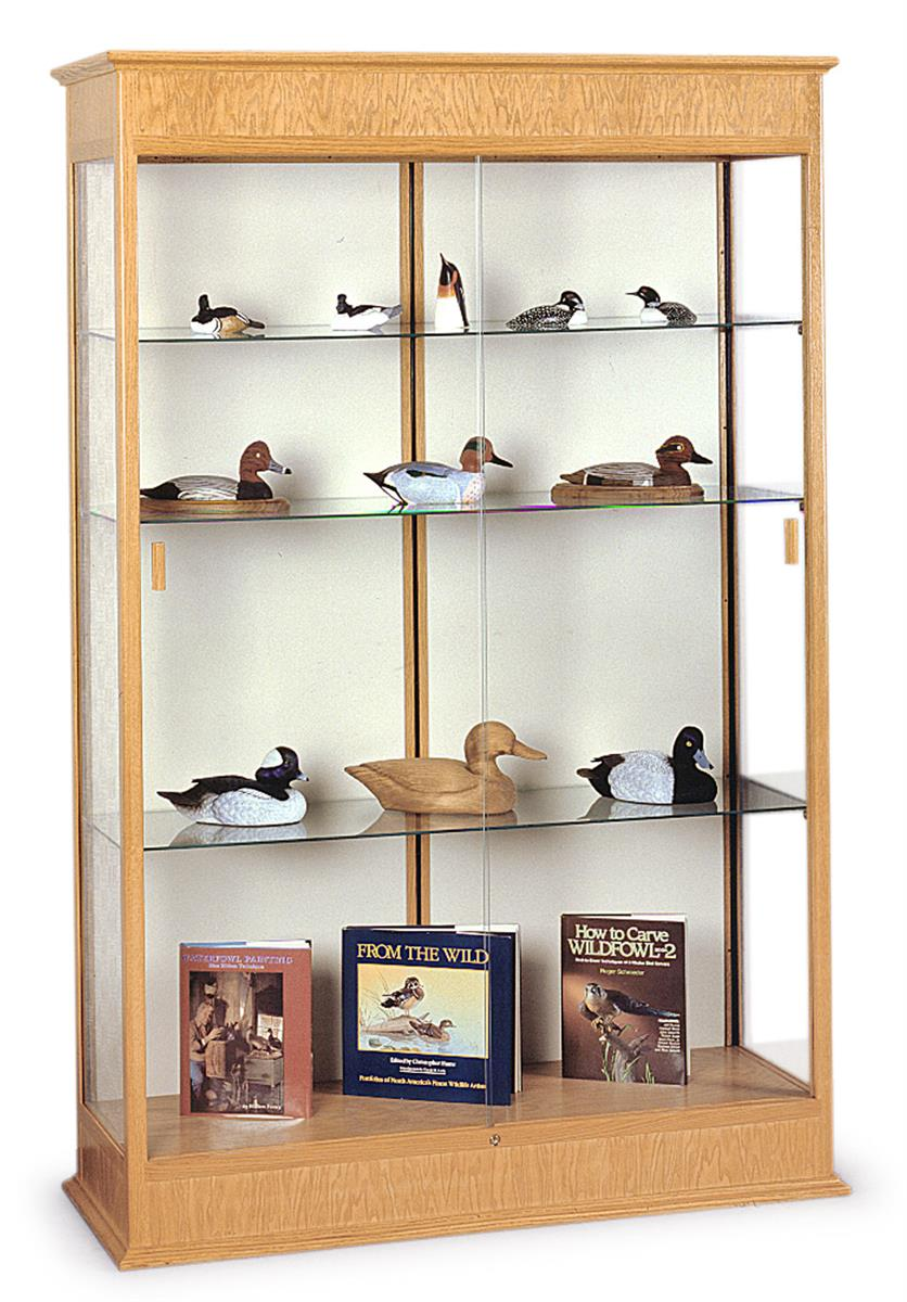 This Trophy Case With Oak Frame Is A High Quality Display