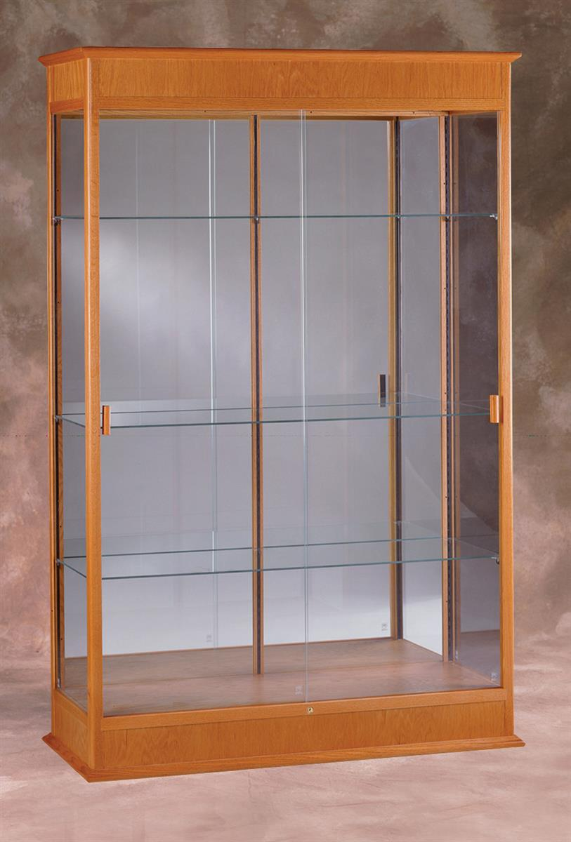 glass door display cabinet this display cabinet mirrors awards and trophies in 15838