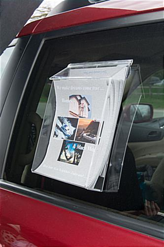 Suction Cup Brochure Holder