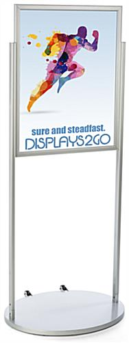Silver 22 x 28 Wheeled Poster Stand for Graphics