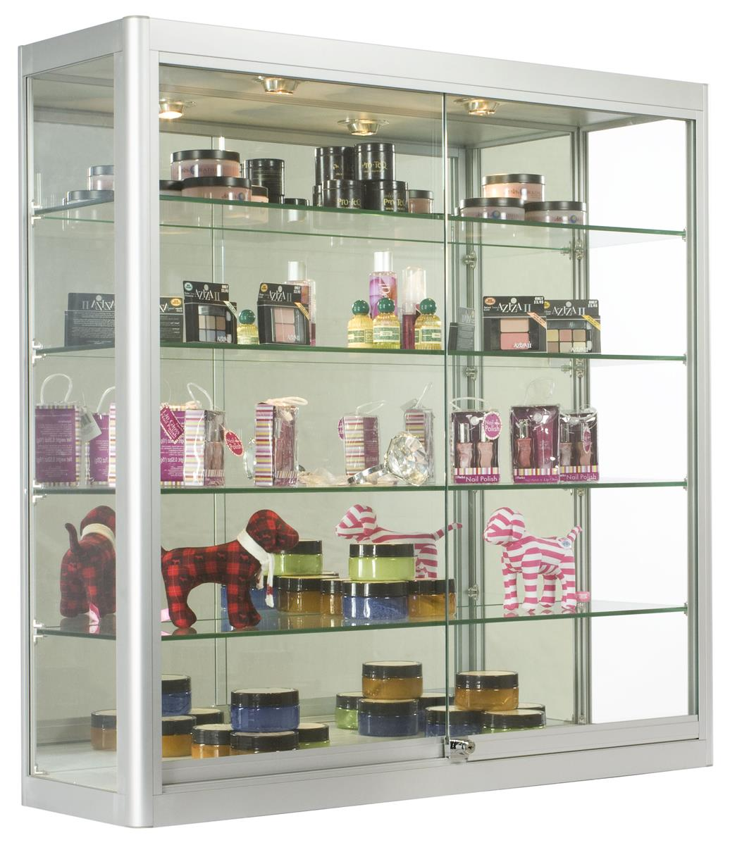 cabinet with drawers and shelves wall merchandising showcases mounting z bars 13085