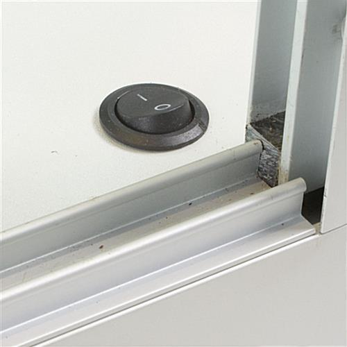 Wall Case: Is Securely Mounted w/Two Z-Bar Mounts
