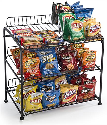 Wire Bread Stand Features 3 Shelves For Snacks Or
