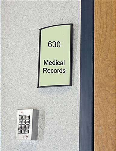 Office Signs Mount Vertically Or Horizontally