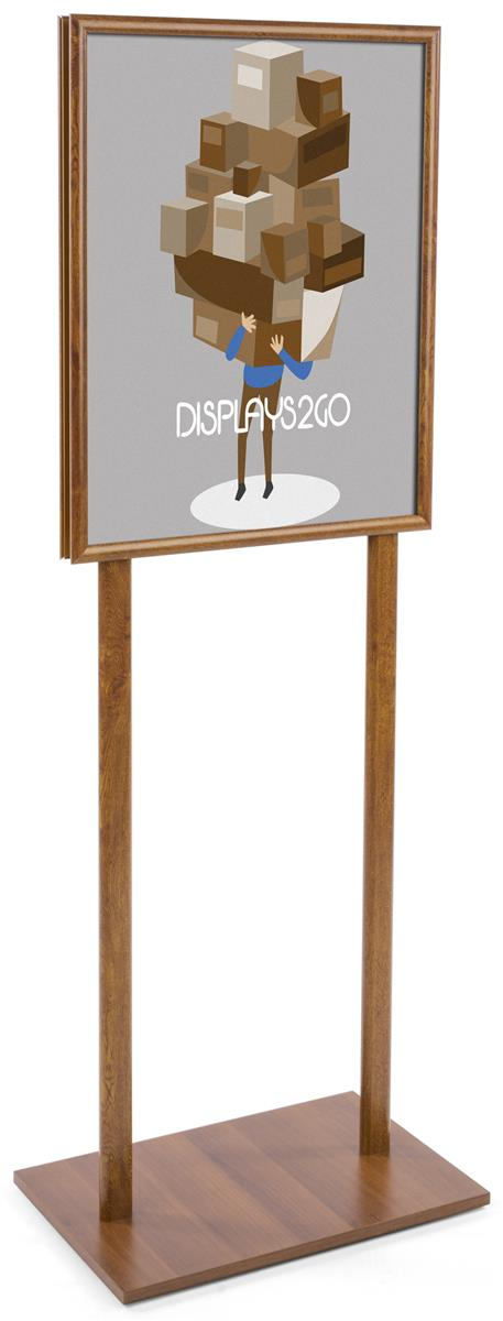 22 x 28 wooden poster stands sign holders. Black Bedroom Furniture Sets. Home Design Ideas