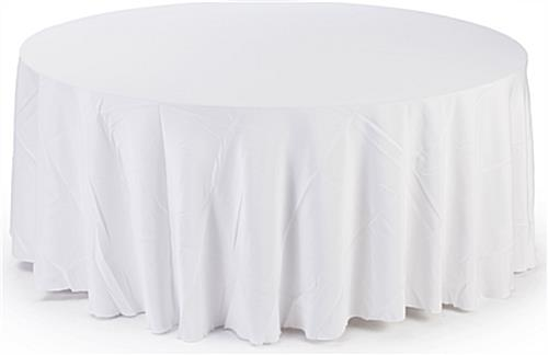 Superbe White Round Tablecloths