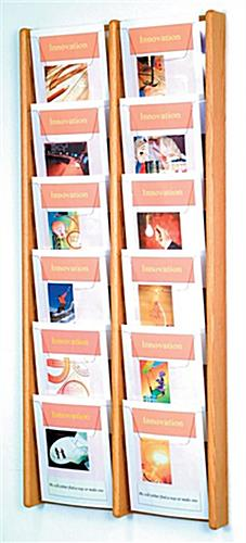 Wall Hanging Wood Magazine Rack for Office