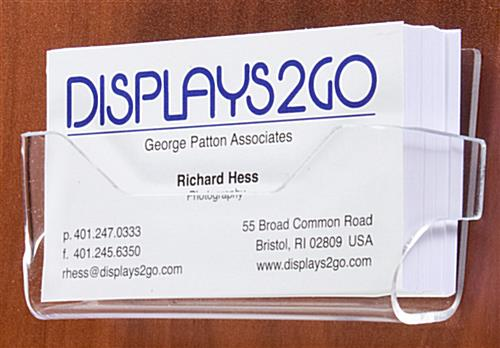 Wall mount business card holders clear acrylic business card holders colourmoves