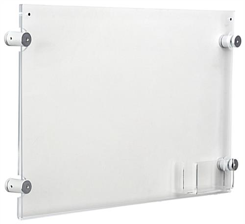 "Wall Mounting 17"" x 11"" Sign Holder with Calling Card Pocket"