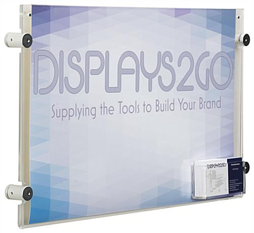 "Durable 17"" x 11"" Sign Holder with Calling Card Pocket"