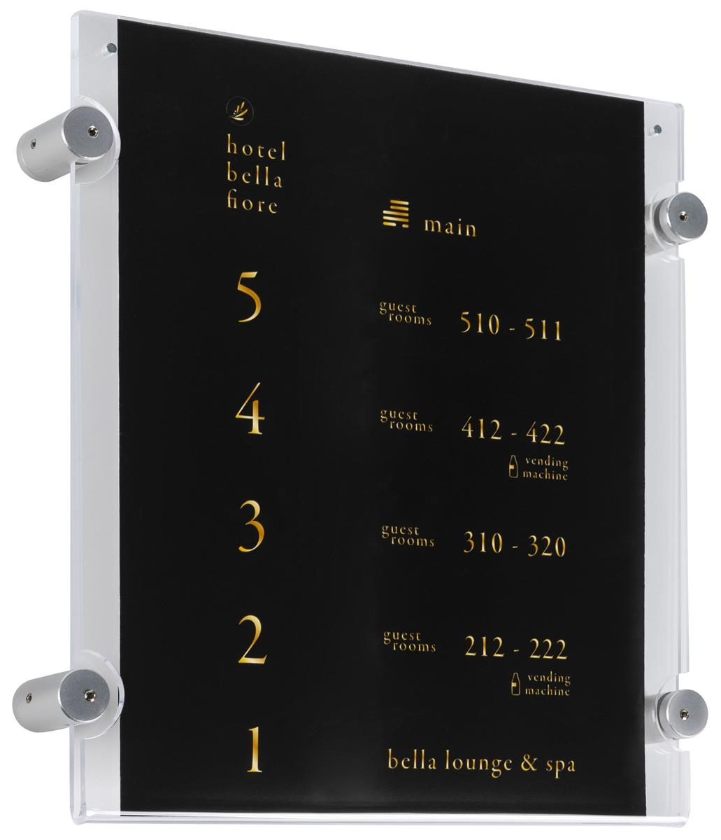 Letter Size Standoff Mounting Display 8 5x11 Wall Mount