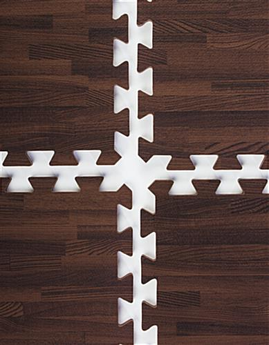 Cherry Wood Grain Floor Mats Interlocking Puzzle Piece Fit