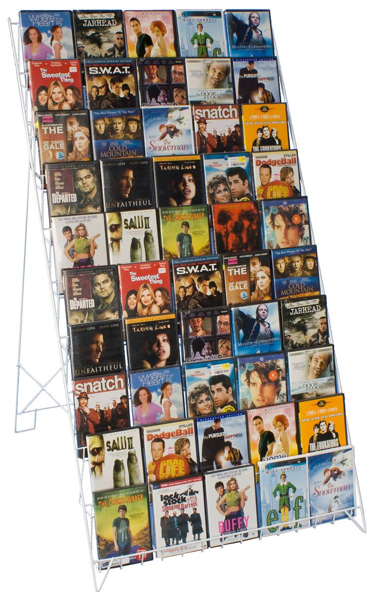 10 Tier Floor Wire Magazine Stand Cd Dvd Amp Periodical