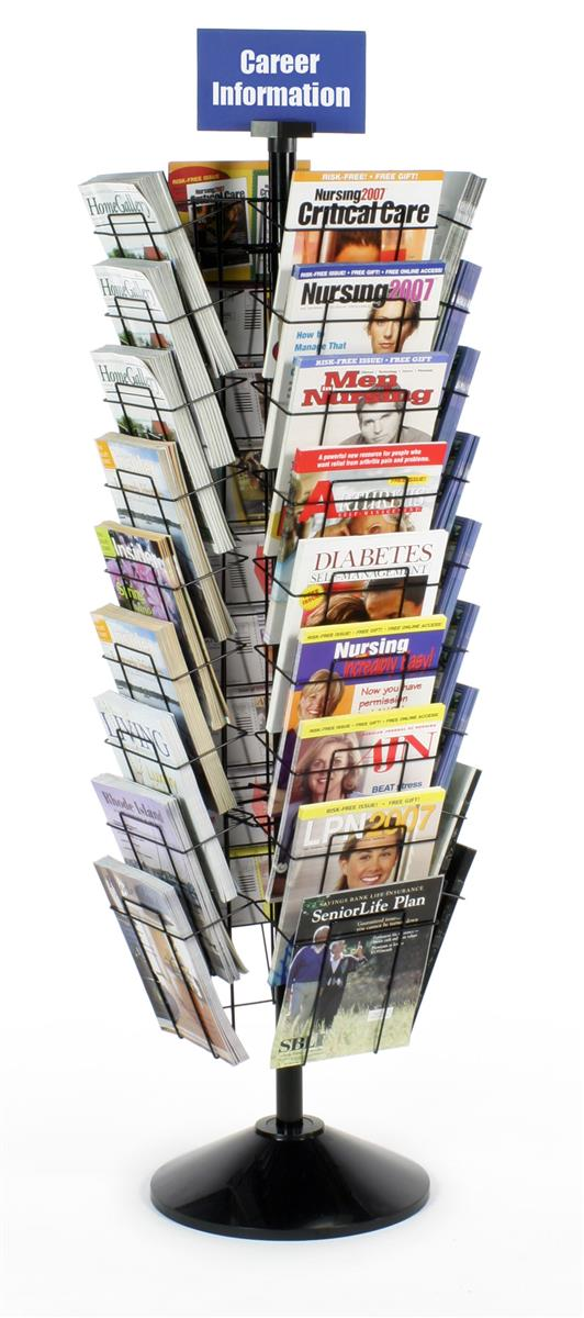 These Magazine Racks That Spin Are Easy To Stock And View
