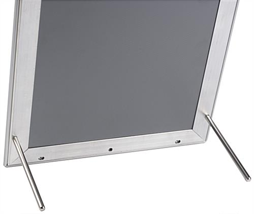 11 x 17 Silver Snap It Frame with Chrome Pegs