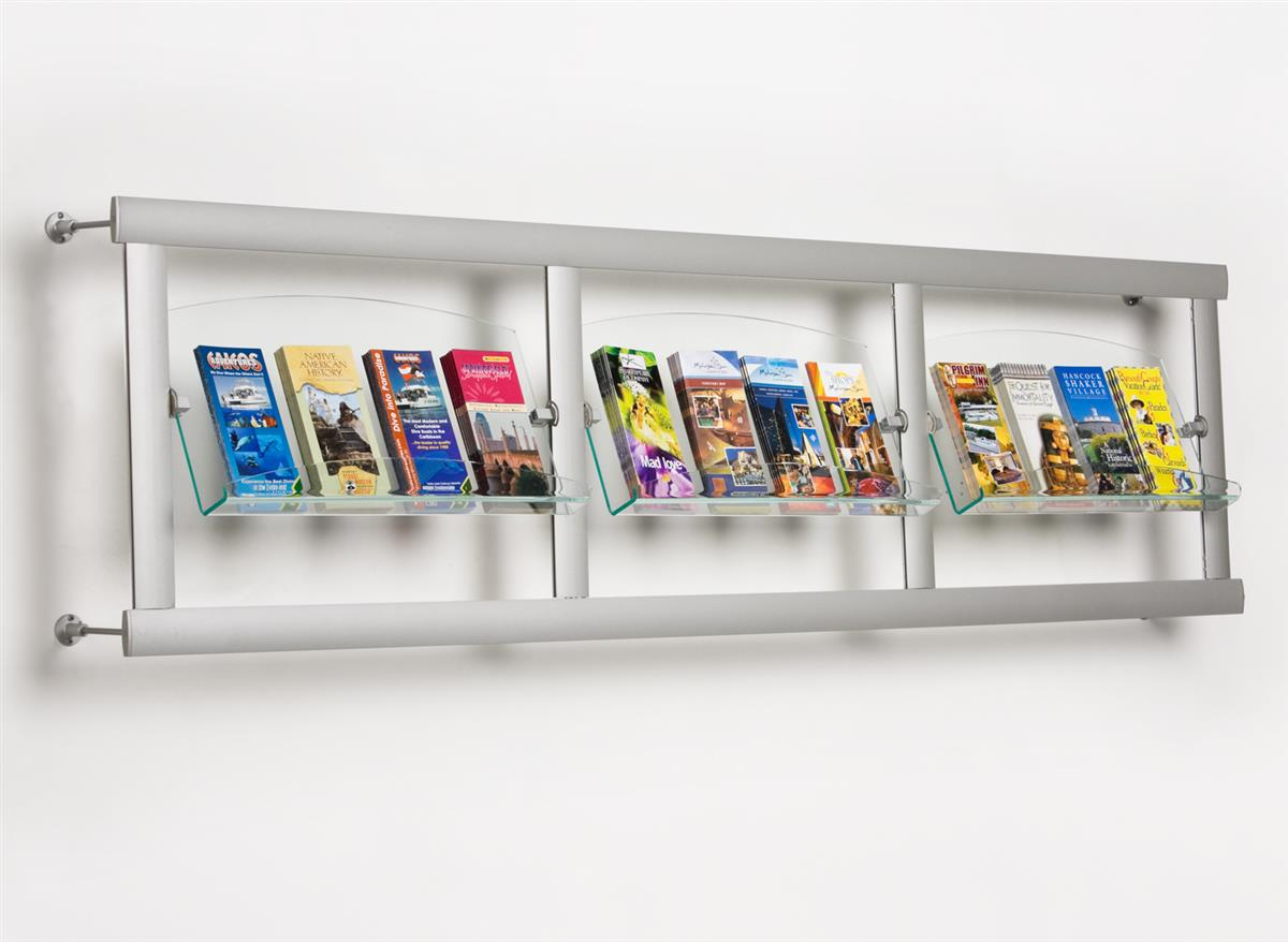 These Literature Racks Are Stylish Open Aluminum Framing