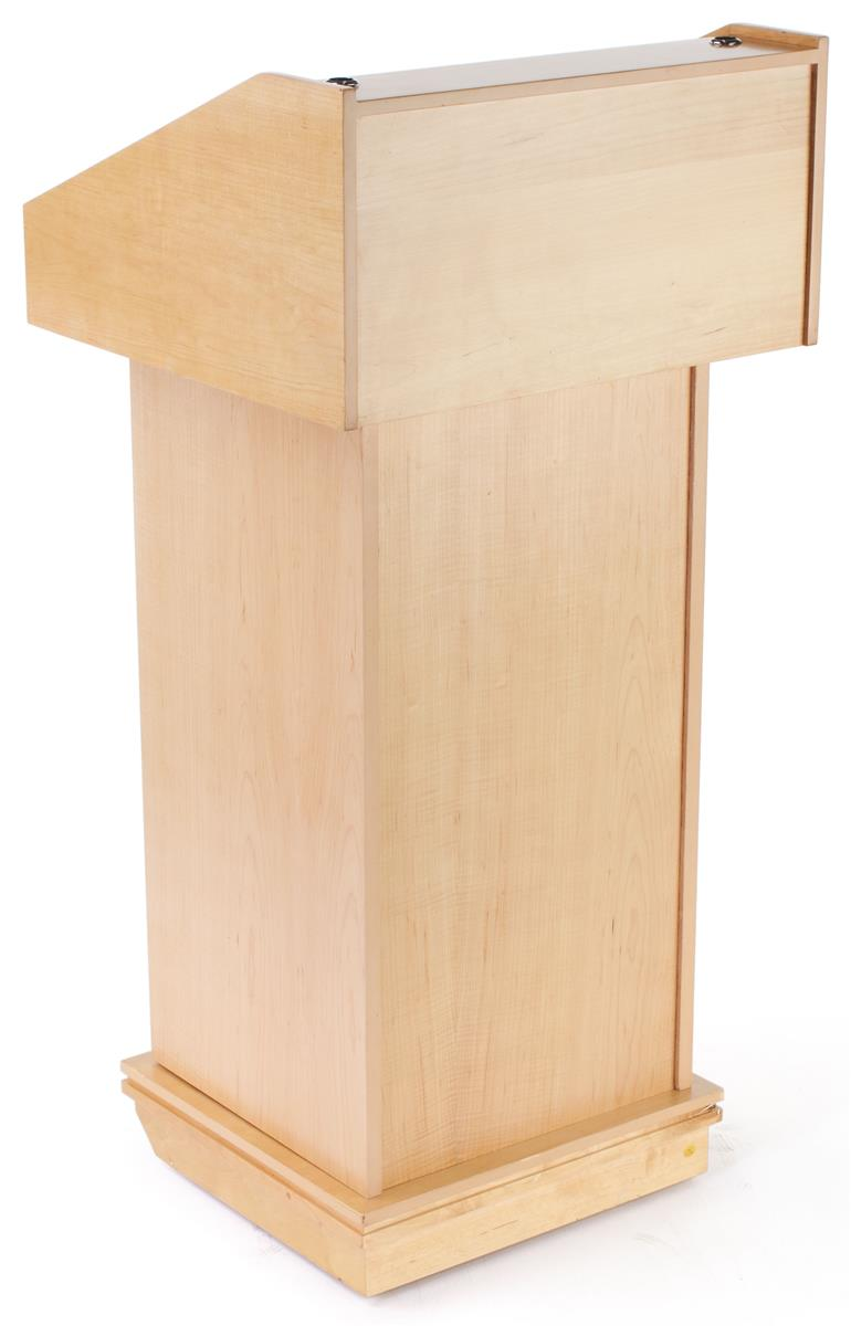 Maple Podium Speaker Stands W Raised Panels
