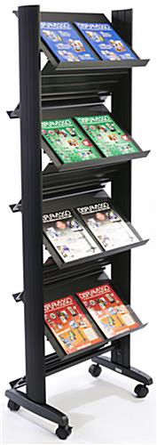 Double Magazine Rack with Cut Plastic Design