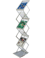 "Portable Literature Stand, 10.25"" Overall Width"