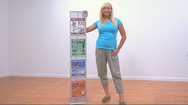 <p> This magazine stand is completely portable and even comes with its own carrying case, great for trade shows! Watch how easy it is to assemble in just a few quick steps. </p>